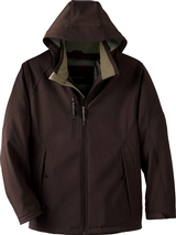 Men's Insulated Soft Shell Jacket With Detachable Hood Main Image