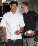 10 Pearl Button Short Sleeve Chef Coat Main Image