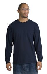 100 Cotton Long Sleeve T-shirt With Pocket Main Image