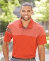 Adidas Heather 3-Stripes Block Golf Shirt Main Image