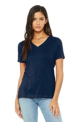 BELLA+CANVAS Women's Relaxed Jersey Short Sleeve V-Neck Tee Main Image