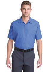 Short Sleeve Striped Industrial Work Shirt Main Image
