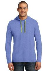 100 Ring Spun Cotton Long Sleeve Hooded T-shirt Main Image