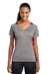 Women's Heather Colorblock Contender V-neck Tee Main Image