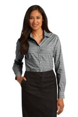 Women's Long Sleeve Gingham Easy Care Shirt Main Image