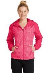 Women's Heather Colorblock Raglan Hooded Wind Jacket Main Image