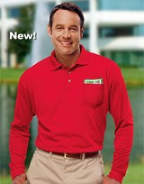 Adult Long Sleeve Pique Polo w/ Pocket Main Image