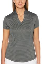 Women's Fine Line Stripe Polo Main Image