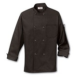 Black Polyester Traditional Chef Coat Main Image