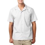 Blended Poplin Solid Camp Shirt Main Image