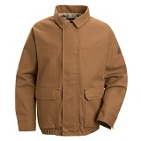 Brown Duck Lined Bomber Safety Jacket Main Image