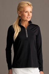 Greg Norman Women's Play Dry 1/4-zip Active Jersey Knit Pullover Main Image