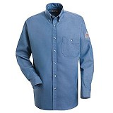CAT 2 Rated Button Down Denim Dress Uniform Shirt Main Image