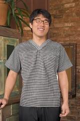 Checked V-neck Chef Shirt Main Image