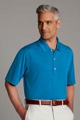 Greg Norman Play Dry Horizontal Textured Polo Shirt Main Image
