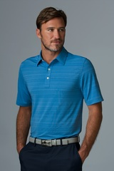 Greg Norman Play Dry Uneven Heather Textured Knit Polo Shirt Main Image
