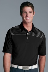 Greg Norman Play Dry Engineered Stripe Knit Polo Shirt Main Image