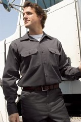 Heavyweight 100% Cotton Wrinkle Resistant Work Shirt Main Image