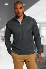 Heavyweight Vertical Texture 1/4-zip Pullover Main Image