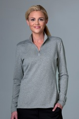 Greg Norman Women's Heathered 1/2-zip Jersey Knit Pullover Main Image
