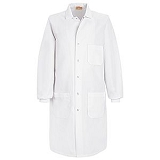 Lab Coat With Knit Cuff And Interior Chest Pocket Main Image