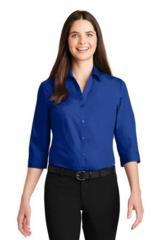 Women's 3/4Sleeve Carefree Poplin Shirt Main Image