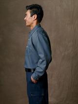 Long Sleeve Industrial Work Shirt Microcheck Main Image