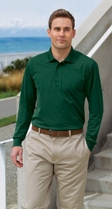 Long Sleeve Micropique Polo Shirt Main Image