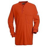 Long Sleeve Tagless Henley Shirt With CAT2 Protection Main Image