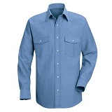Long Sleeve Western Style Uniform Dress Shirt Main Image
