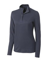 Women's Cutter & Buck Long Sleeve Belfair Half-Zip Mock Turtleneck Main Image