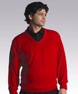 Men's 100 Acrylic Interlock V-neck Sweater Main Image