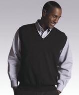 Men's 100 Cotton Cashmere V-neck Sweater Vest Main Image