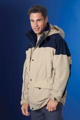 Men's 3-in-1 Two Tone Parka With Reflective Piping Main Image