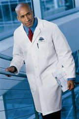 Men's 5-button Front Lab Coat Main Image