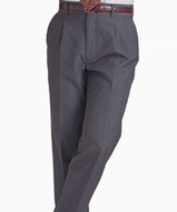 Men's 70/30 Poly / Wool Pleated Pant Main Image