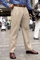 Men's Brushed Twill Slacks Main Image