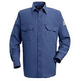 Men's Button Front Deluxe Shirt With CAT 1 Protection Main Image