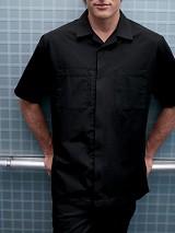 Men's Convertible Collar Zip Front Uniform Shirt Main Image