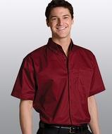 Men's Cotton Rich Short Sleeve Twill Shirt Main Image