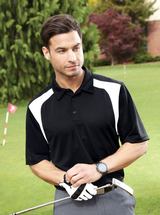 Men's Eperformance Color-block Textured Polo Shirt Main Image