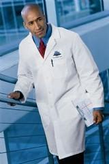 Men's Gripper Front Lab Coat Main Image