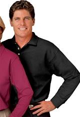 Men's Long Sleeve Pocketless Pique Polo Main Image
