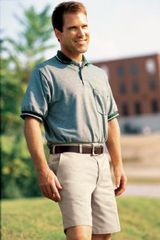 Men's Plain Front Work Short With Side Elastic Waistband Main Image