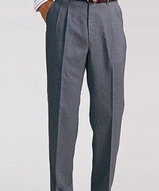 Men's Pleated Front Lightweight Poly / Wool Pants Main Image
