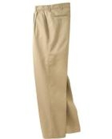 Men's Pleated Front Poly / Cotton Blended Chino Pant Main Image