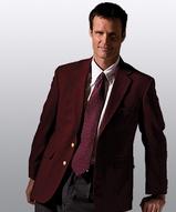 Men's Poly / Wool Hopsack Blazer Main Image