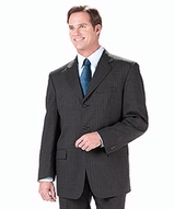 Men's Poly / Wool Pinstrip Suit Coat Main Image