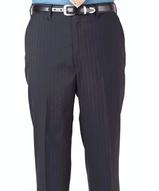 Men's Poly / Wool Pinstripe Flat Front Pant Main Image