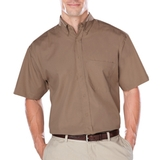 Men's Short Sleeve Easy Care Poplin With Matching Buttons Main Image